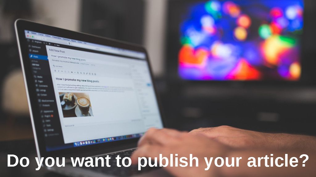 Do you want to publish your article?